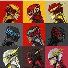 Flash family #theflash #reverseflash #kidflash #zoom #blackflash #godspeed #jaygarrick #dc