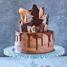 Chokladtårta med bananmousse   Tidningen Hembakat