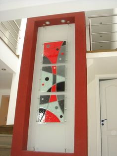 vitrofusion cuadros abstractos - Buscar con Google Stained Glass Crafts, Stained Glass Designs, Stained Glass Panels, Fused Glass Art, Decoration, Art Decor, Glass Fusion Ideas, Glass Art Pictures, Acrylic Wall Art