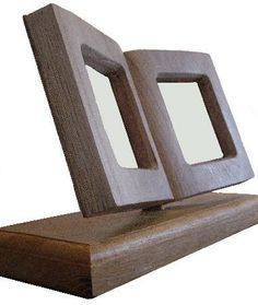Art of Wood Delux Book Style Picture Frame on Stand - small single book - Display Units from £130 plus p&p ideal for that special display of a special photo or information.