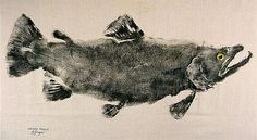 Gyotaku is an ancient Japanese method of printing, whereby a natural object is smeared with ink, covered with a sheet of paper and then rubbed until the image has been transferred.