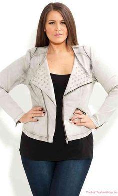 Plus Size Stud Biker Jacket – City Chic – City Chic 60 Adorable Outfit Ideas To Copy Now – Plus Size Stud Biker Jacket – City Chic – City Chic Source Look Plus Size, Plus Size Women, Curvy Girl Fashion, Plus Size Fashion, Xl Mode, Coats For Women, Jackets For Women, Plus Zise, City Chic