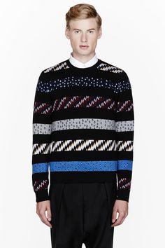 KENZO Black striped Bad Weather sweater