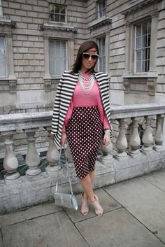 London Darling! 125 Snaps Straight From LFW: Polka dots and stripes never looked quite so glam. Source: Hannah Freeman