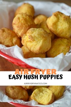 Make Easy Air Fryer Hush Puppies in minutes! These are easy to make and tasty fabulous too, p Make Easy Air Fryer Hush Puppies in minutes! These are easy to make and tasty fabulous too, paired with your favorite air fryer fish recipe. Air Fryer Recipes Appetizers, Air Fryer Recipes Vegetables, Air Fryer Recipes Snacks, Air Fryer Recipes Low Carb, Air Fryer Recipes Breakfast, Air Frier Recipes, Air Fryer Dinner Recipes, Snack Recipes, Meat Recipes