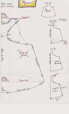 moldes de blusa y forma de crearlo.!   blusa amplia con sisa escotada.   #modazeus #moda  #moldes