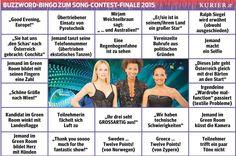 Das Bingo zum Eurovisions Songcontest Finale 2015. http://kurier.at/songcontest