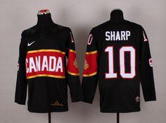 2014 Nike Canada Olympic Hockey Jersey # 10 Sharp Jersey - Black - $33 http://www.cheapjerseyssupplyfromchina.com/2014-nike-canada-olympic-hockey-jersey-10-sharp-jersey-black-45669.html