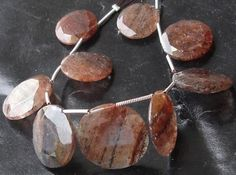 IMPERIAL BLACK RUTILE Faceted Coin Shape Briolette by Raregemstone, $29.00