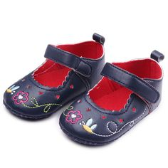 >> Click to Buy << Baby Shoes Baby Newborn Infant Toddler Girls Floral Print Shoes PU Leather Shoes Soft Cotton First Walkers Crib Shoes 0-12M #Affiliate