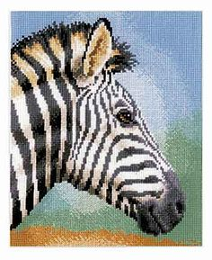 Zebra Cross Stitch Kit by Vervaco