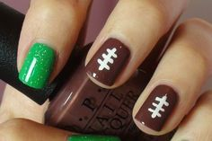 Football Nails !! Pick your team colors!!