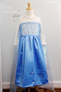 How to Sew an Elsa Costume 2. Make a tunic version for Anna to wear to school