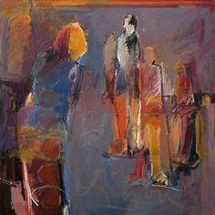 Guardians 5 by Dru Scott Warmath Oil ~ 36' x 36'