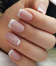 pink nails, Natural short square nails design for summer nails, acrylic square nails short, square n French Manicure Nails, Shellac Nails, Pink Nails, My Nails, Square Nail Designs, Short Nail Designs, Nail Art Designs, Nails Design, Chic Nails