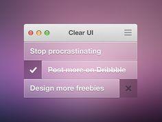 Clear UI Theme by Daniel Klopper