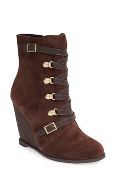 BCBGeneration 'Kadeer' Suede Wedge Bootie (Women) available at #Nordstrom