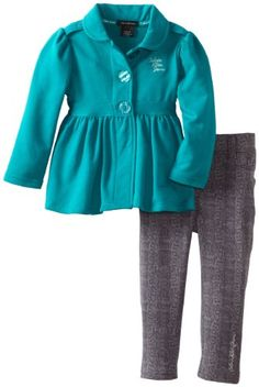 Calvin Klein Girls 2-6X Jacket with Pants, Green, 3T | Reviews Across The WebReviews Across The Web