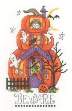 Free Halloween Kitty Cross-Stitch Pattern - ABC Free Cross