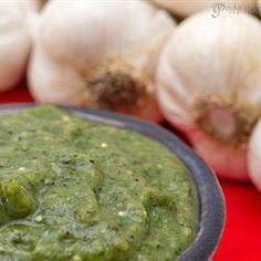 Roasted Tomatillo and Garlic Salsa