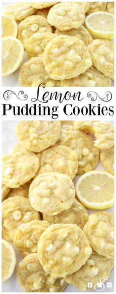 WHITE CHOCOLATE CHIP LEMON COOKIES - White Chocolate Chip Lemon Cookies are soft, chewy and perfectly sweet lemon cookies! White chocolate chips & lemon pudding mix add great flavor and texture to these delicious spring cookies. from Family Cookie Recipes Lemon Desserts, Lemon Recipes, Cookie Desserts, Just Desserts, Sweet Recipes, Baking Recipes, Cookie Recipes, Delicious Desserts, Dessert Recipes
