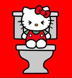 Even a cute girl like Hello Kitty has to poop. Goodbye Kitty, Hello Kitty Art, Hello Kitty Pictures, Hello Kitty Items, Sanrio Hello Kitty, Hello Hello, Hello Kitty Backgrounds, Hello Kitty Wallpaper, Sanrio Wallpaper