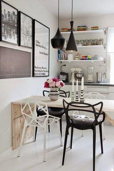Maison: Designklassiker – Chair One von Konstantin Grcic Chaise Masters, Kitchen Dining, Kitchen Decor, Kitchen Modern, Swedish Kitchen, Nordic Kitchen, Kitchen Black, Kitchen Wood, Decorating Kitchen
