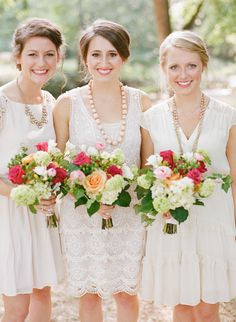 Ivory Mismatched Bridesmaids  Photography: Austin Gros - austingros.com/