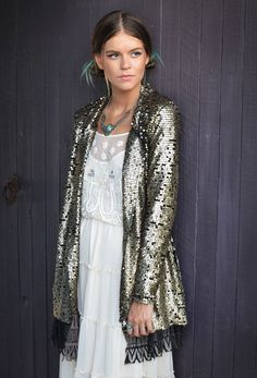 Tarnished Sequin Stardust Jacket   Free People www.thefreedomstate.com.au