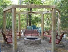 Porch Swings Fire Pit Circle - Porch Swings - Patio Swings - Outdoor Swings