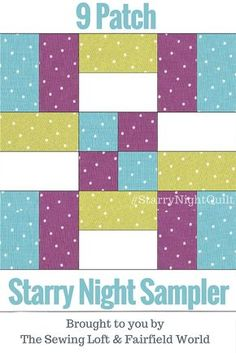 1 Starry Night Quilt It's time for the first block of the Starry Night Quilt Sampler. Come join the fun and Increase your skill set with a block of the Month sewing series on The Sewing Loft. Beginner Quilt Patterns, Quilting For Beginners, Quilt Block Patterns, Quilting Tips, Quilting Tutorials, Pattern Blocks, Quilt Blocks, Free Baby Quilt Patterns, Sewing Tutorials