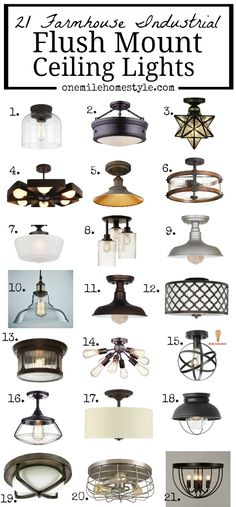 You Need This Round Up Of 21 Farmhouse Flush Mount