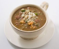 Shrimp and Andouille Gumbo. Make a double batch and freeze half for a quick weeknight meal later!