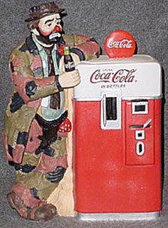 Collecting Cookie Jars: Emmett Kelly Jar and Cocal Cola Coca Cola Ad, Always Coca Cola, Emmett Kelly, Coke Machine, Antique Cookie Jars, Coca Cola Kitchen, Vintage Coke, Cute Cookies, Retro