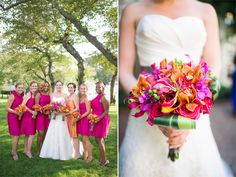 "Real Wedding: Lacey & Joe: Neon accents and festive table settings channeled ""summer fun in DC"" for this stylish celebration."