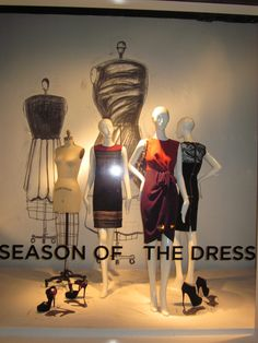 """SAKS FIFTH AVENUE, Chicago, Illinois,USA, """"Season of the Dress"""", pinned by Ton van der Veer"""