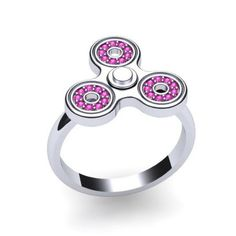 New York City jeweller Michael Zweig has released what it claims is the world's smallest working fidget spinner - which doubles as a unique fashion statement. The rings do all the work of a traditional fidget spinner, helping relieve stress for those who have trouble with focusing or fidgeting. But it also features the quality and design of a traditional piece of high-end jewellery - even at at just US$25 for the one pictured.