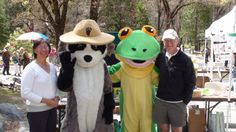 Paul and Annette-two great friends-at Save the Frogs Day in Yosemite. I am the frog. April 2012