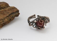 Ring- wire wrapped with agate by mea00 on deviantART