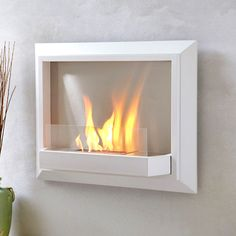 Modern indoor and outdoor fireplaces on TouchOfModern