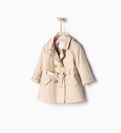 Floral lined trench coat-Jackets-Baby girl | 3 months - 3 years-COLLECTION SS16 | ZARA United States