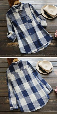 Hot sale,only $15.99!Up to 20% Off during Pre-order Time.This casual shirt is in style with plaid pattern and pocket design. See more amazing items at Cupshe.com !