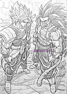 Broly and Cumber finally meet Chihiro Cosplay, Dbz Drawings, Otaku, Super Anime, Ball Drawing, Dragon Images, Desenho Tattoo, Anime Sketch, Gifs