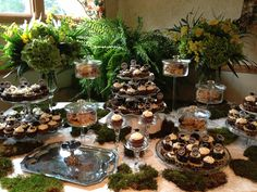 dessert table from my college graduation party - June 2013 - by my mom, Linda DeTrolio