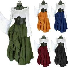 Cosplay Dress, Cosplay Costumes, Costume Dress, Costume Renaissance, Diy Medieval Costume, Celtic Costume, Renaissance Dresses, Women's Flares, Maxi Robes