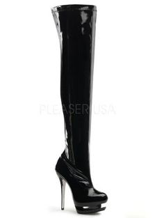 Sexy Black Dual Platform Thigh High Boot 9 ** Continue to the product at the image link. (This is an affiliate link) Women's Over The Knee Boots, Thigh High Boots, High Heels, Shoes Heels, Boots For Sale, Thigh Highs, Heeled Boots, Thighs, Platform