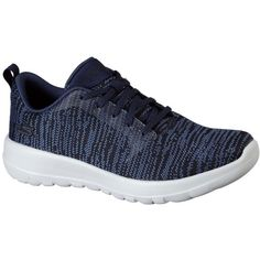 Skechers Women's Skechers Gowalk Joy Navy - Skechers Performance... ($55) ❤ liked on Polyvore featuring shoes, athletic shoes, navy, navy athletic shoes, skechers footwear, navy blue athletic shoes, mesh material shoes and mesh shoes
