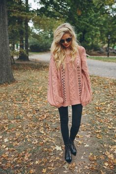 Pink sweater!