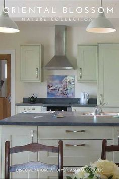 Glass Splashbacks aren't limited to modern kitchens. This gorgeous country style kitchen looks wonderful with our delicate Oriental Blossom glass splashback. Explore more from the Nature Collection today http://www.diysplashbacks.co.uk/printed-glass-splashbacks/nature-splashbacks.aspx