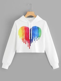 Drawstring Hoodie Heart Print Sweatshirt Check out this Drawstring Hoodie Heart . - Drawstring Hoodie Heart Print Sweatshirt Check out this Drawstring Hoodie Heart Print Sweatshirt on - Girls Fashion Clothes, Teen Fashion Outfits, Outfits For Teens, Fashion Dresses, Womens Fashion, Lolita Fashion, Ladies Fashion, Fashion Styles, Fashion Fashion